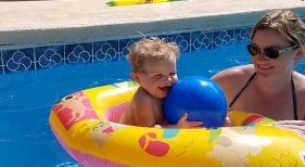 Kiley baby swimming